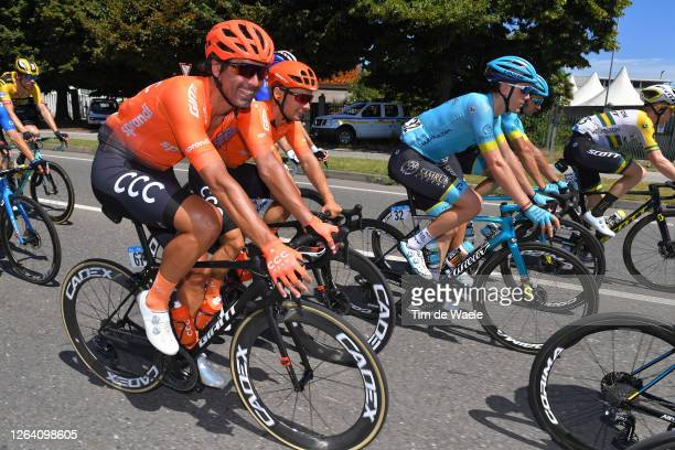 Francisco José Ventoso Alberdi of Spain and CCC Team / Jakub Mareczko of Italy and CCC Team / Alex Aranburu Deba of Spain and Astana Pro Team /...