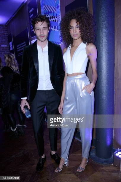 Francisco Lachowski and Cindy Bruna attend The Daily Front Row x LIFEWTR NFYW Opening Night at Kola House on February 9 2017 in New York City
