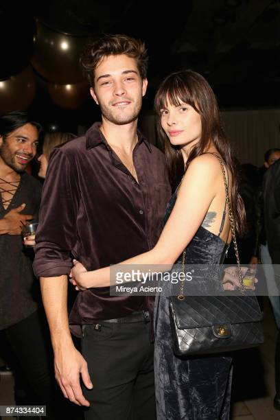 Francisco Lachowski and Jessiann Gravel Beland attend the 50th anniversary celebration of Wilhelmina with cohost Patti Hansen on November 14 2017 in...
