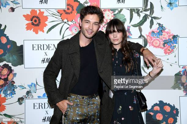 Francisco Lachowski and Jessieann Lachowski attend ERDEM X HM Paris Collection Launch at Hotel du Duc on October 26 2017 in Paris France