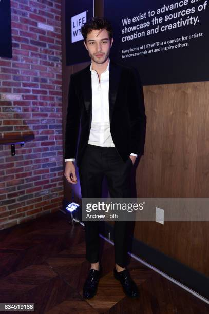 Francisco Lachowski attends The Daily Front Row x LIFEWTR New York Fashion Week opening night at Kola House on February 9 2017 in New York City
