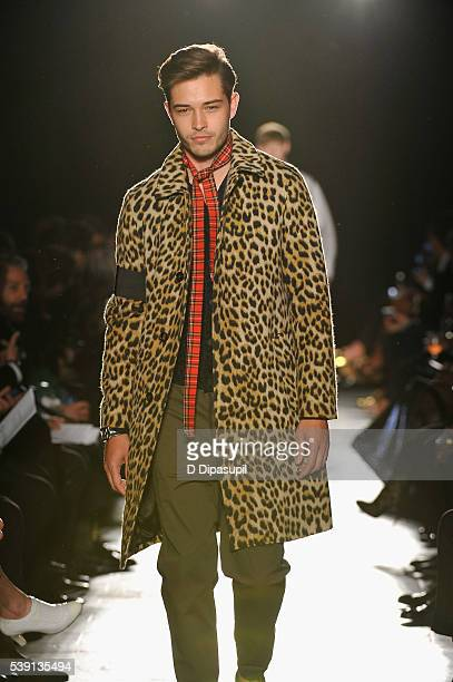 Francisco Lachowski walks the runway during the 7th Annual amfAR Inspiration Gala at Skylight at Moynihan Station on June 9 2016 in New York City