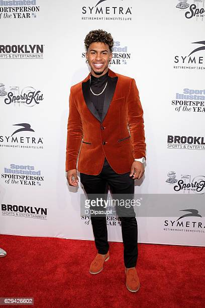 Francisco Lindor attends the 2016 Sports Illustrated Sportsperson of the Year at Barclays Center of Brooklyn on December 12 2016 in the Brooklyn...
