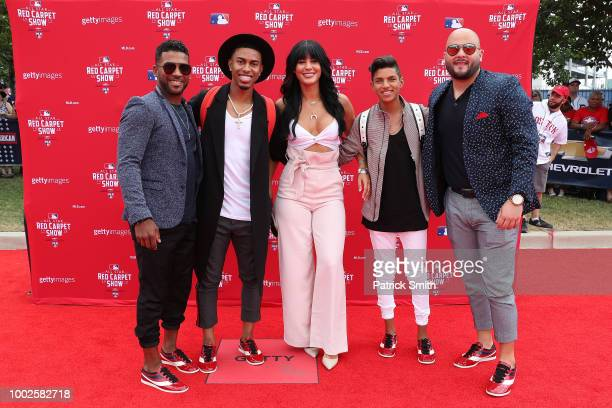 Francisco Lindor of the Cleveland Indians and guests attend the 89th MLB AllStar Game presented by MasterCard red carpet at Nationals Park on July 17...