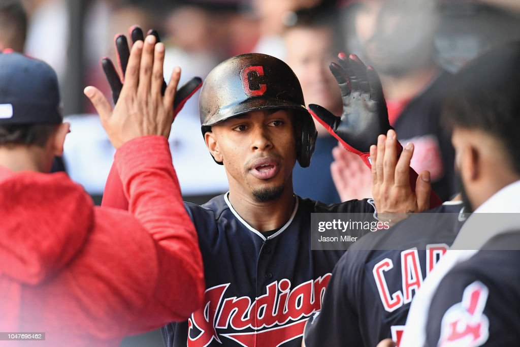 Divisional Round - Houston Astros v Cleveland Indians - Game Three : News Photo
