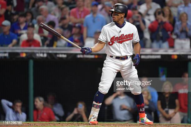 Francisco Lindor of the Cleveland Indians participates in the 2019 MLB AllStar Game at Progressive Field on July 09 2019 in Cleveland Ohio