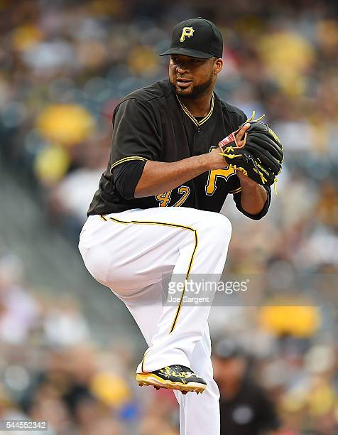 Francisco Liriano of the Pittsburgh Pirates pitches during the game against the San Francisco Giants on June 22 2016 at PNC Park in Pittsburgh...