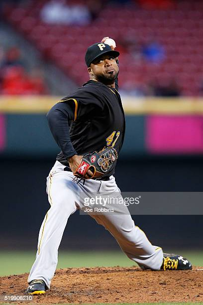 Francisco Liriano of the Pittsburgh Pirates pitches in the second inning of the game against the Cincinnati Reds at Great American Ball Park on April...