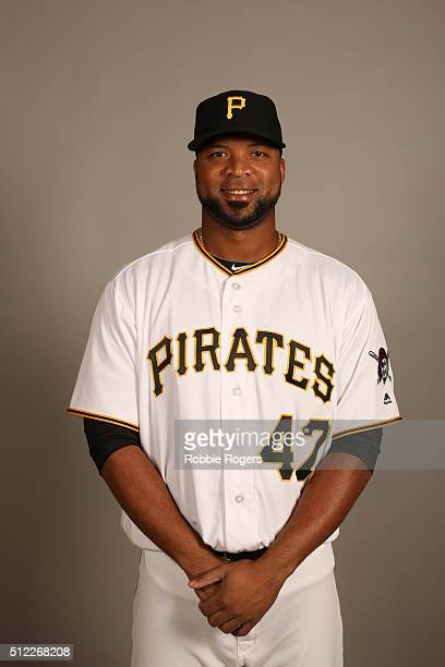 Francisco Liriano of the Pittsburgh Pirates poses during Photo Day on Thursday February 25 2016 at McKechnie Field in Bradenton Florida