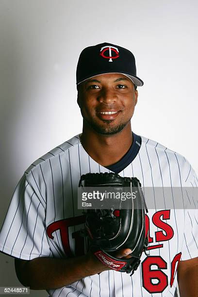 Francisco Liriano poses for a portrait during the Minnesota Twins Portrait Day on February 28 2005 at Hammond Stadium in Ft Myers Florida