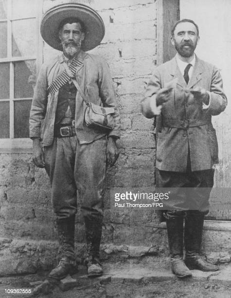 Francisco Madero , the President of Mexico, with revolutionary Maximo Castillo , captain of the Presidential Guard, circa 1912.
