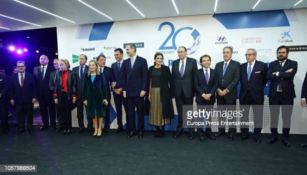 Francisco Marhuenda Pedro Sanchez Jose Creuheras King Felipe of Spain Queen Letizia of Spain Mauricio Casals Joaquin Parera Ana Pastor Maria Teresa...