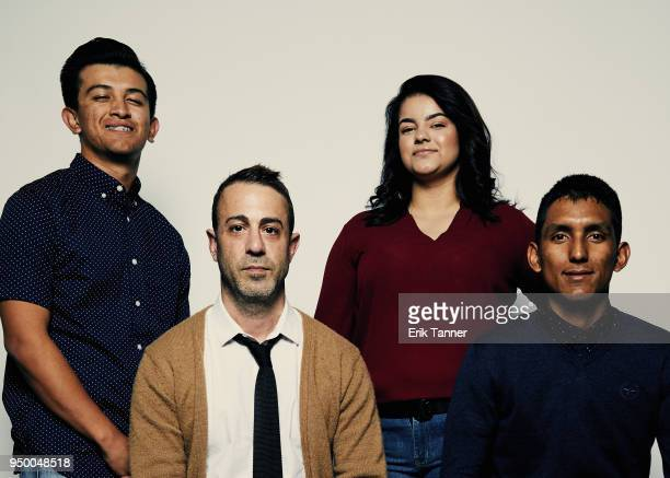 Francisco Mata Matt Ogens Shyanne Murguia and Erik Espinoza Villa of the film HOME AWAY pose for a portrait during the 2018 Tribeca Film Festival at...