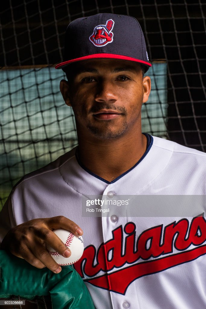 Francisco Mejia of the Cleveland Indians poses for a portrait at the Cleveland Indians Player Development Complex on February 21, 2018 in Goodyear, Arizona.