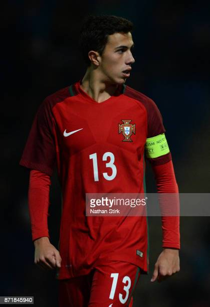 Francisco Morais Saldanha of Portugal 17s looks on during the International Match between England U17 and Portugal U17 at Proact Stadium on November...