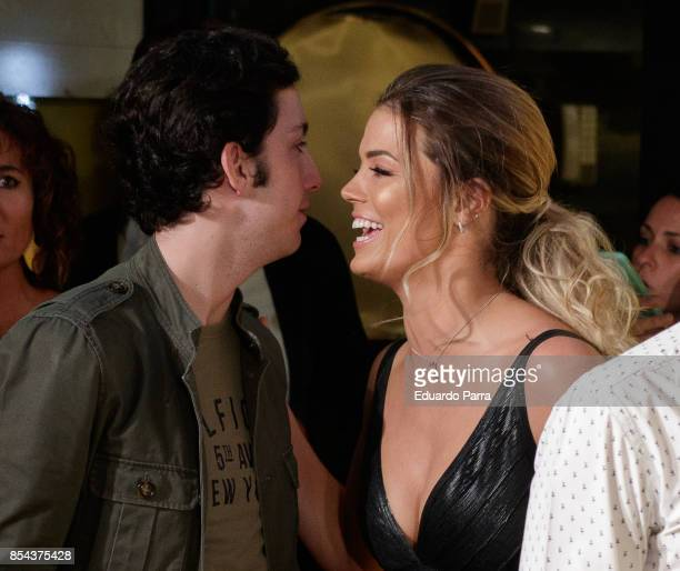 Francisco Nicolas AKA Pequeno Nicolas and Alyson Eckmann attend the 'La Llamada' premiere at Capitol cinema on September 26 2017 in Madrid Spain