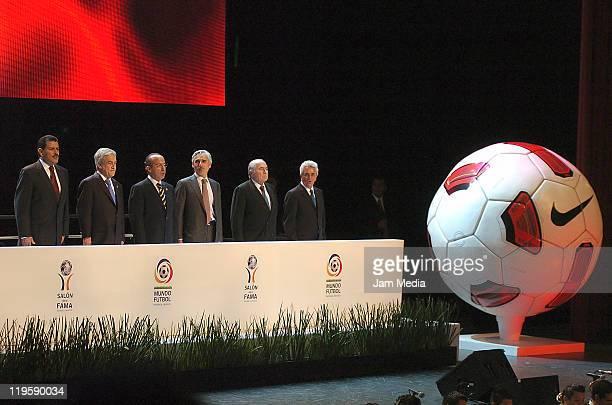 Francisco Olvera, Governor of Hidalgo, Sebastian Pinera, President of Chile, Felipe Calderon, President of Mexico, Jesus Martinez, President of...