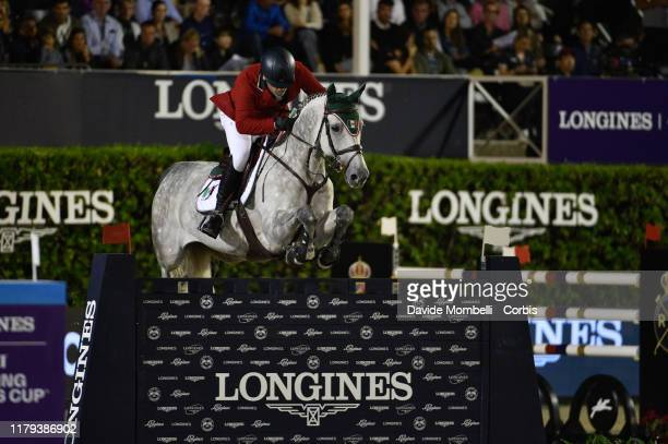 Francisco Pasquel riding Coronado of Mexico during Longines FEI Jumping Nations Cup Final Challenge Cup on October 5 2019 in Barcelona Spain