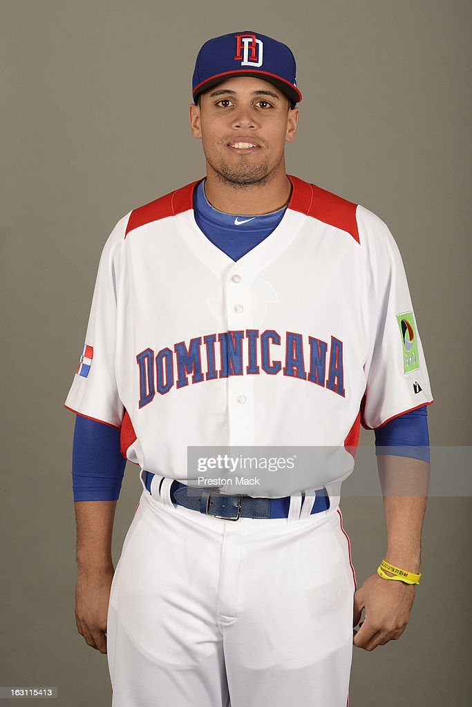 Francisco Pena #25 of Team Dominican Republic poses for a headshot for the 2013 World Baseball Classic on March 4, 2013 at George M. Steinbrenner Field in Tampa, Florida.