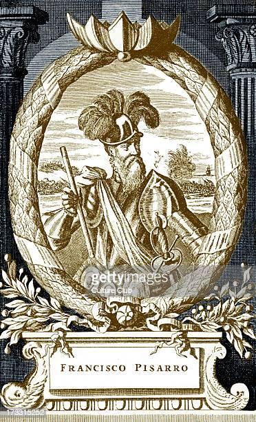 Francisco Pizarro Spanish conquistador 1471 26 June 1541 Engraving from 'Beschreibung von Amerika' Amsterdam 1673