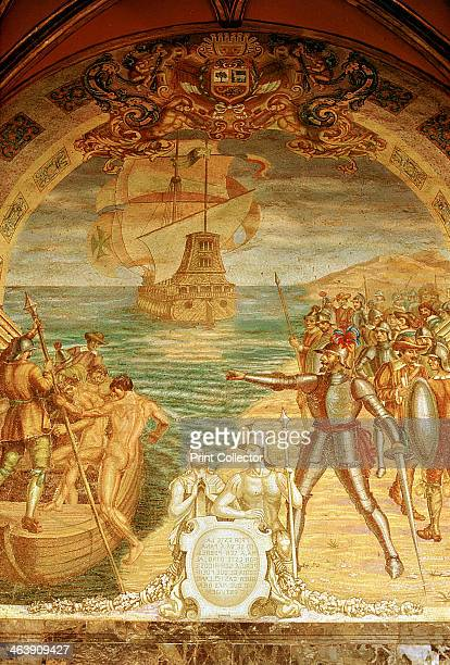 Francisco Pizarro Spanish conquistador Pizarro and his soldiers on the island of Gallo Pizarro conquered the empire of the Incas in 1532 claiming...