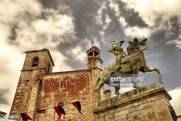 Francisco Pizarro statue in Trujillo