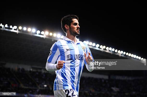 Francisco R Alarcon Isco of Malaga CF looks on during the UEFA Champions League quarterfinal first leg match between Malaga CF and Borussia Dortmund...