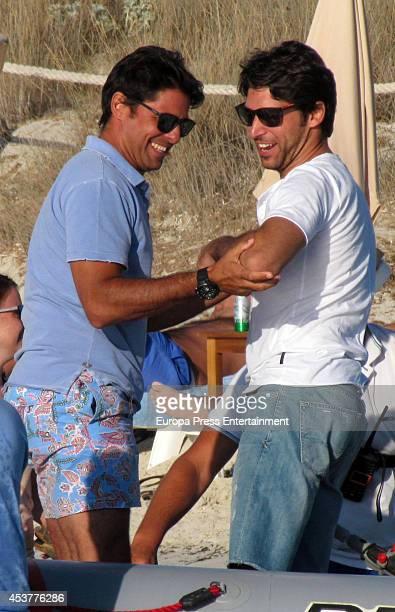 Francisco Rivera and Cayetano Rivera are seen on July 30 2014 in Formentera Spain