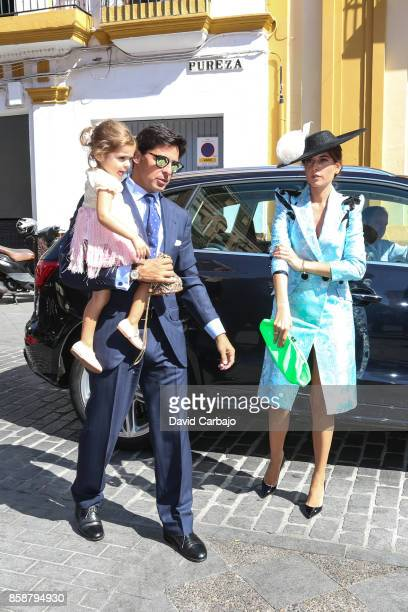 Francisco Rivera and Lourdes Montes looks on during Sibi Montes And Alvaro Sanchis Wedding at Parroquia Santa Ana on October 7 2017 in Seville Spain