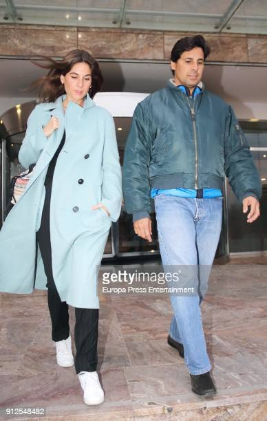 Francisco Rivera and Lourdes Montes visit Irene Rosales at hospital after giving birth to Carlota Rivera on January 30 2018 in Seville Spain