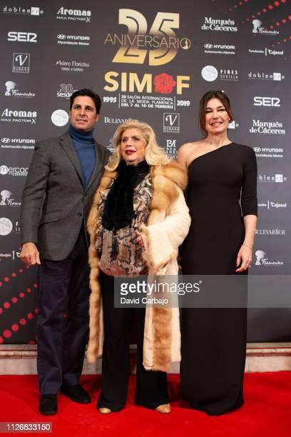 Francisco Rivera Maria Jimenez and Raquel Revuelta attend the SIMOF Gala 25th Anniversary awards on February 01 2019 in Seville Spain