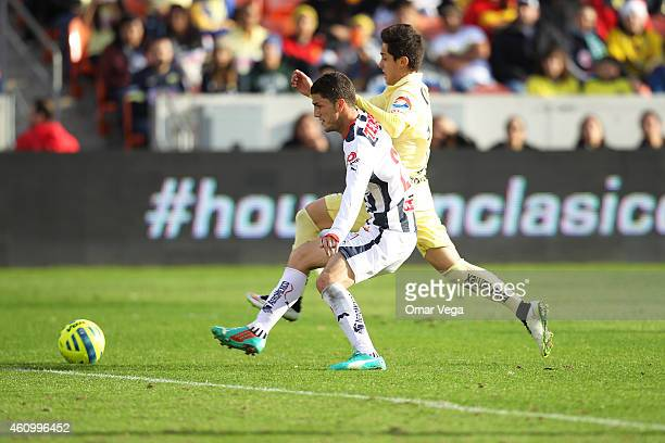 Francisco Rivera of America in action during a friendly match between America and Monterrey at BBVA Compass Stadium on January 03 2015 in Houston...