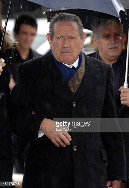 Francisco Rocasolano attends Erika Ortiz funeral at the Tres Cantos cemetery on February 8 2007 in Madrid Spain
