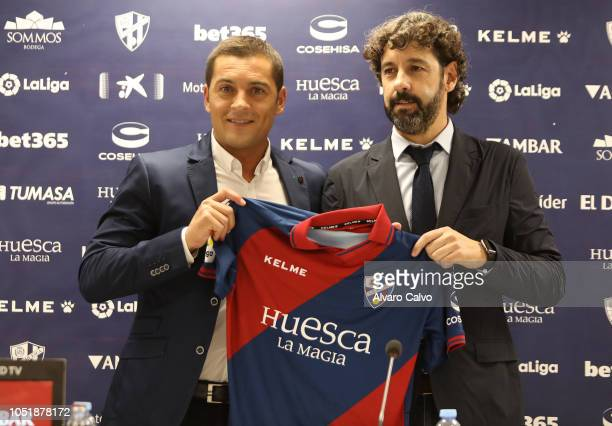Francisco Rodríguez the new Huesca SD coach is presented at El Alcoraz on October 11 2018 in Huesca Spain