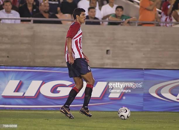 Francisco Rodriguez of Chivas de Guadalajara during a Superliga match between Chivas de Guadalajara and the Los Angeles Galaxy at the Los Angeles...