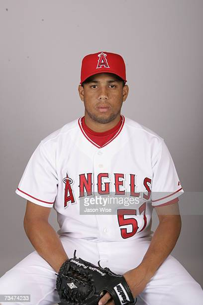 Francisco Rodriguez of the Los Angeles Angels of Anaheim poses during photo day at Tempe Diablo Stadium on February 22 2007 in Tempe Arizona
