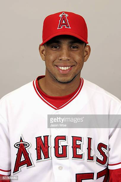Francisco Rodriguez of the Los Angeles Angels of Anaheim poses for a portrait during photo day at Tempe Diablo Stadium on February 24 2005 in Tempe...