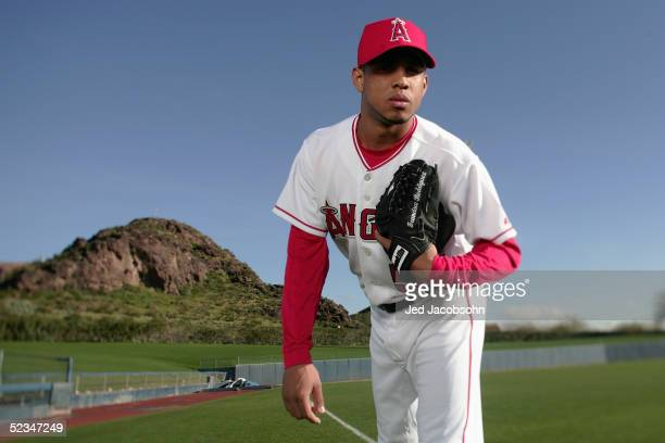 Francisco Rodriguez of the Los Angeles Angels of Anaheim poses for a portrait during Spring Training Photo Day at Tempe Diablo Stadium on February 24...