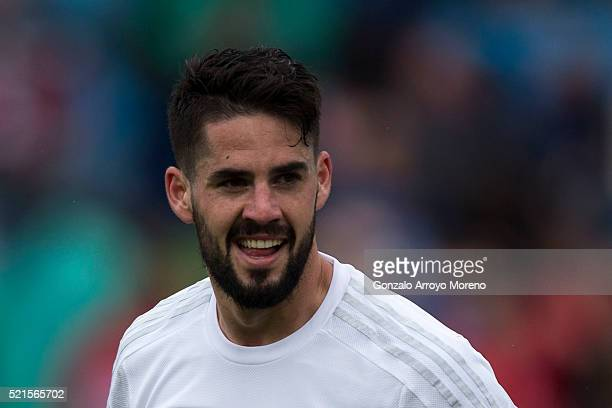 Francisco Roman Alarcon alias Isco of Real Madrid CF celebrates scoring their second goal during the La Liga match between Getafe CF and Real Madrid...