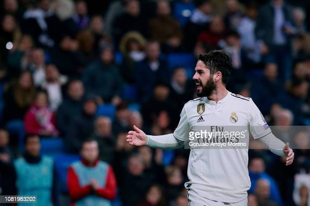 Francisco Roman Alarcon alias Isco of Real Madrid CF confronts the audience during the UEFA Champions League Group G match between Real Madrid and...
