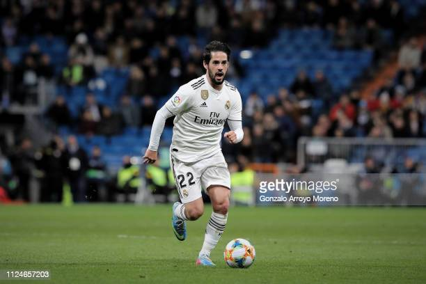 Francisco Roman Alarcon alias Isco of Real Madrid CF controls the ball during the Copa del Rey Quarter Final match between Real Madrid CF and Girona...