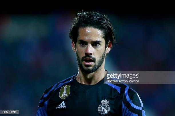 Francisco Roman Alarcon alias Isco of Real Madrid CF looks on during the La Liga match between CD Leganes and Real Madrid CF at Estadio Municipal de...