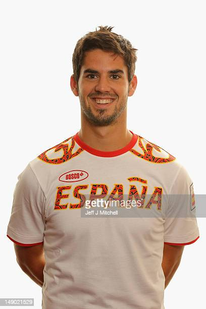 Francisco Roman Alarcon poses during a Spain Men's Official Olympic Football Team portrait session on July 22, 2012 in Glasgow, Scotland.