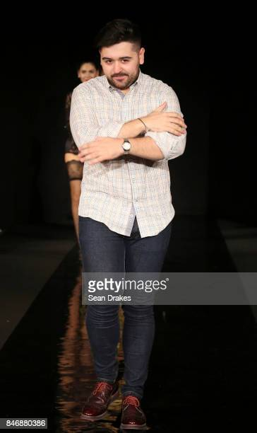 Francisco Saez of Spain poses in the Fashion Designers of Latin America collection shows during New York Fashion Week at Skyline Hotel on September...