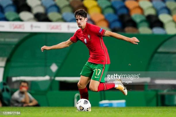 Francisco Trincao of Portugal during the International Friendly match between Portugal v Spain at the Jose Alvalade stadium on October 7 2020 in...