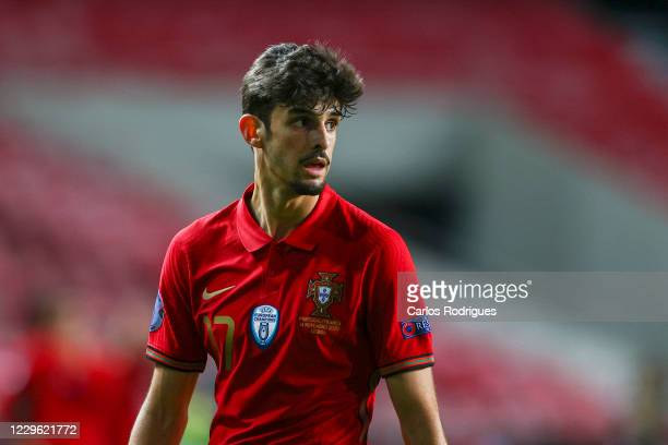 Francisco Trincao of Portugal during the UEFA Nations League group stage match between Portugal and France at Estadio do Sport Lisboa e Benfica on...