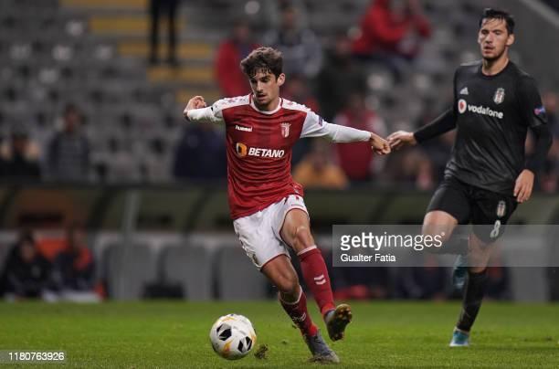 Francisco Trincao of SC Braga in action during the Group K UEFA Europa League match between SC Braga and Besiktas JK at Estadio Municipal de Braga on...