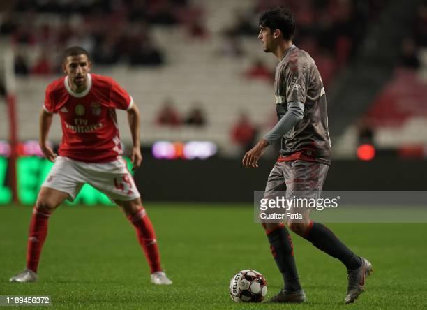 Francisco Trincao of SC Braga in action during the Taca De Portugal match between SL Benfica and SC Braga at Estadio da Luz on December 18 2019 in...