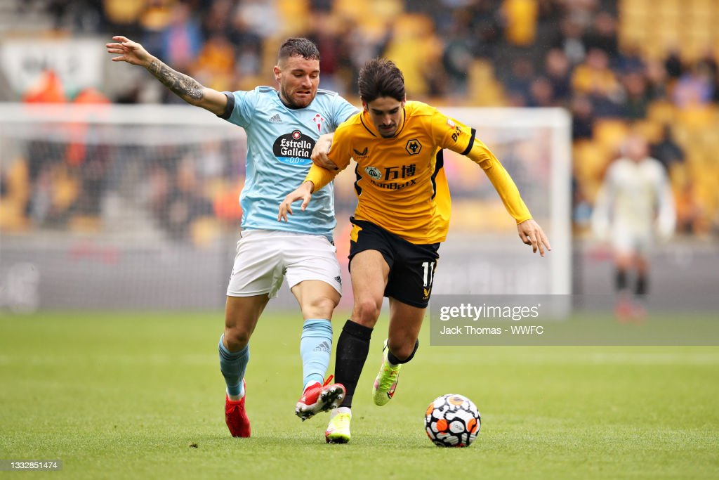 Francisco Trincao of Wolverhampton Wanderers is challenged by Javier...  News Photo - Getty Images