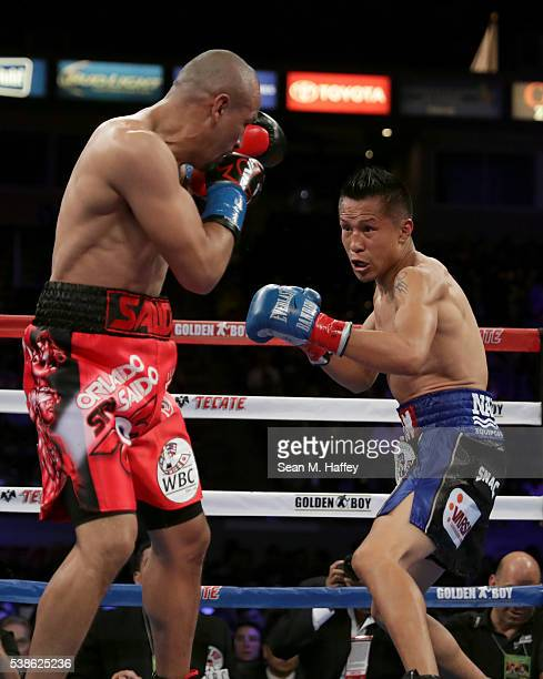 Francisco Vargas approaches Orlando Salido during their WBC super featherweight championship bout at StubHub Center on June 4 2016 in Carson...